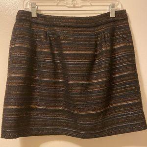 J. Crew Metallic Threaded Skirt